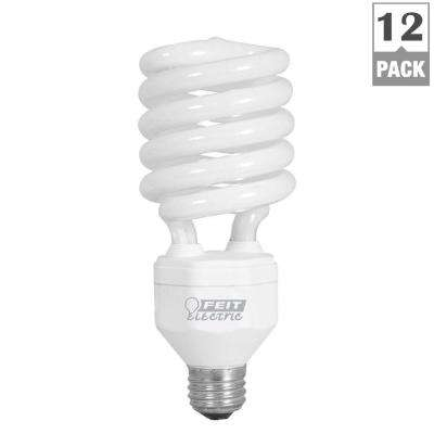 150W Equivalent Daylight (6500K) Spiral CFL Light Bulb (12-Pack)