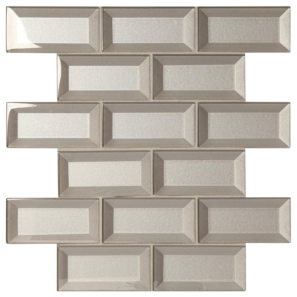 Decor Accents Silver 12 In X 8 Mm Gl Brick Joint