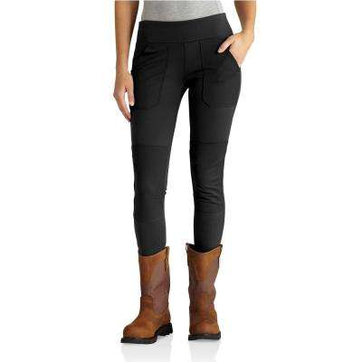Women's Large Black Nylon/Spandex Force Utility Legging Pant