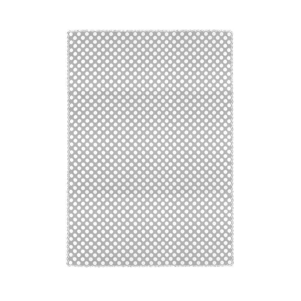 Polka Dot Rectangle White Polyester Tablecloth