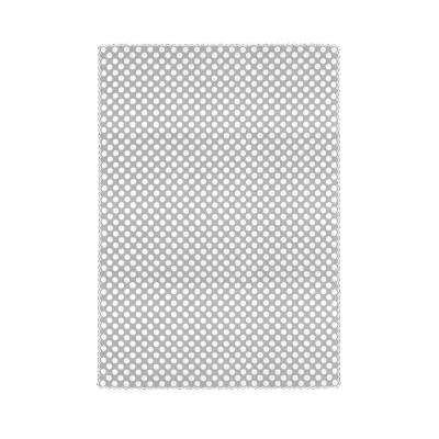 Polka Dot Rectangle White Polyester Tablecloth