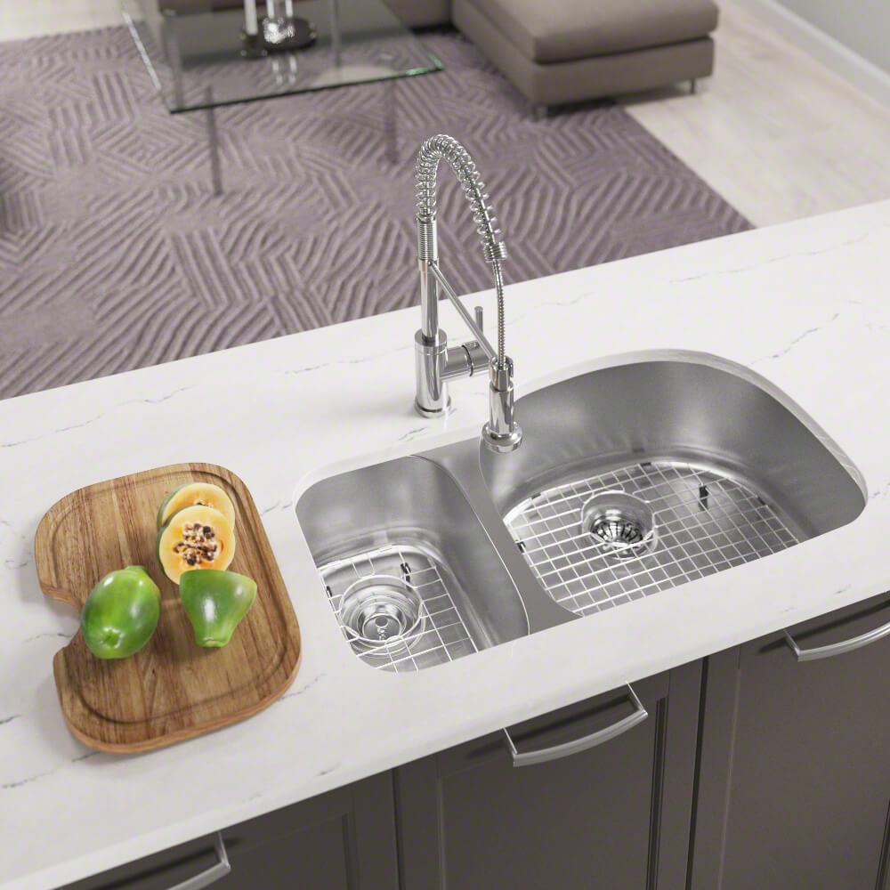 Mr Direct All In One Undermount Stainless Steel 35 In