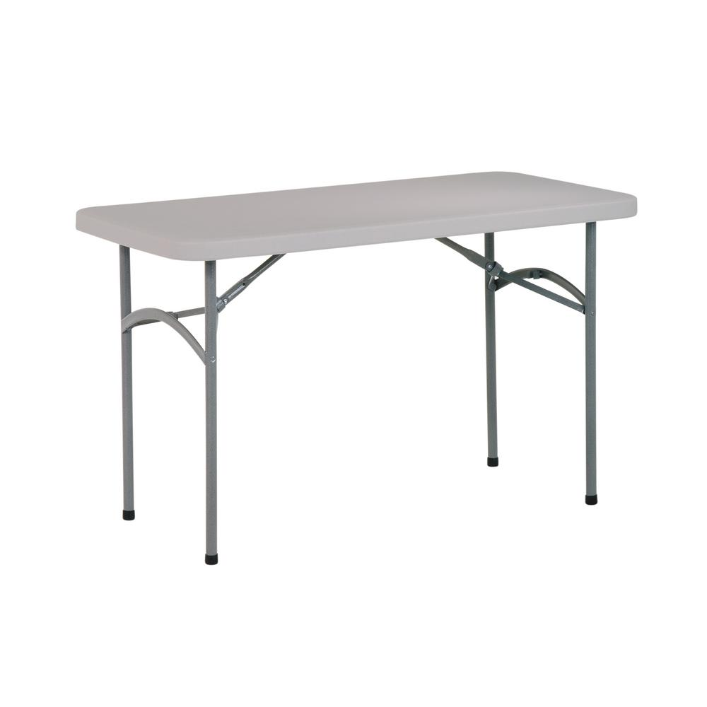 Office Star Products 48 In Light Gray Plastic Folding High Top Table