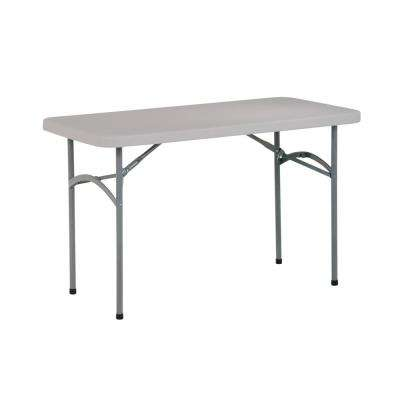 48 in. Light Gray Plastic Folding High Top Table
