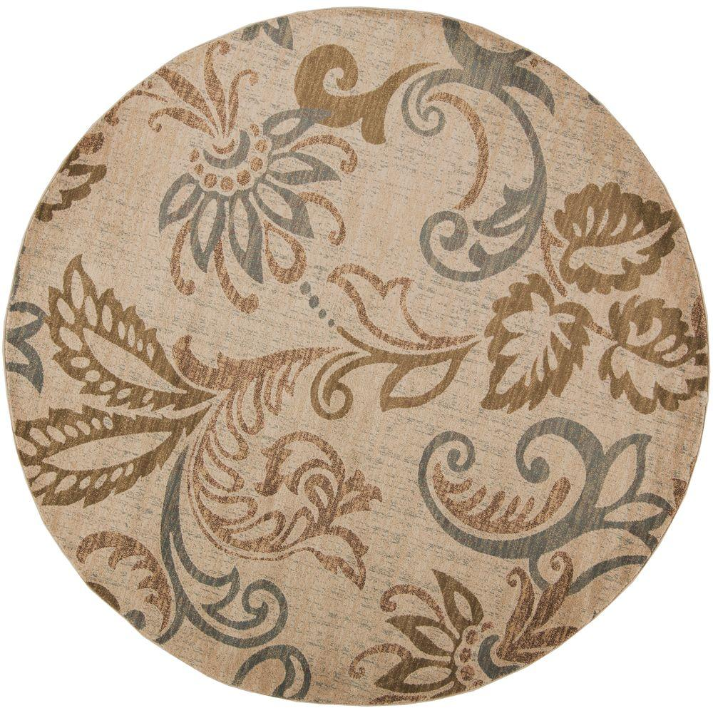 Ceratonia Lime (Green) 8 ft. x 8 ft. Round Indoor Area Rug