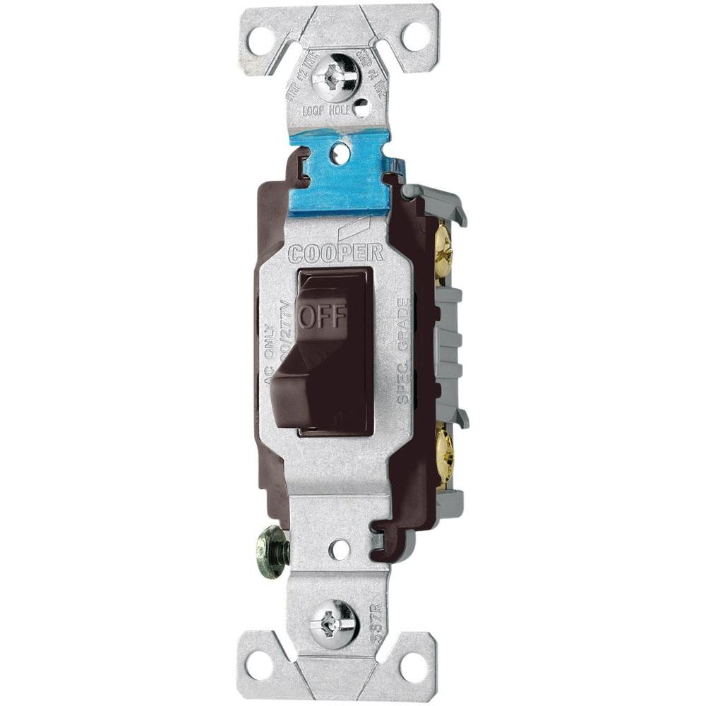 Cooper Wiring Cs220w Toggle Light Switch 20a Double White Wire 19quot Lcd Monitor Power And Inverter Schematic Electro Help Eaton 20 Amp 120 277 Volt Side Compact Black Rh Homedepot Com