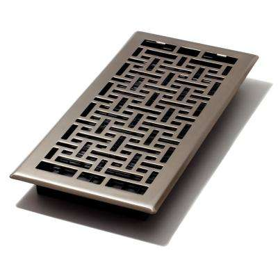6 in. x 14 in. Oriental Nickel Floor Register