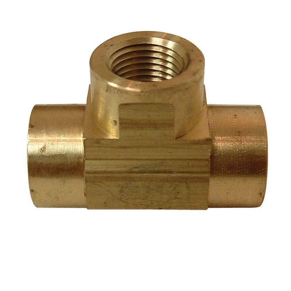 Lead-Free Brass Pipe Tee 1/4 in. FIP