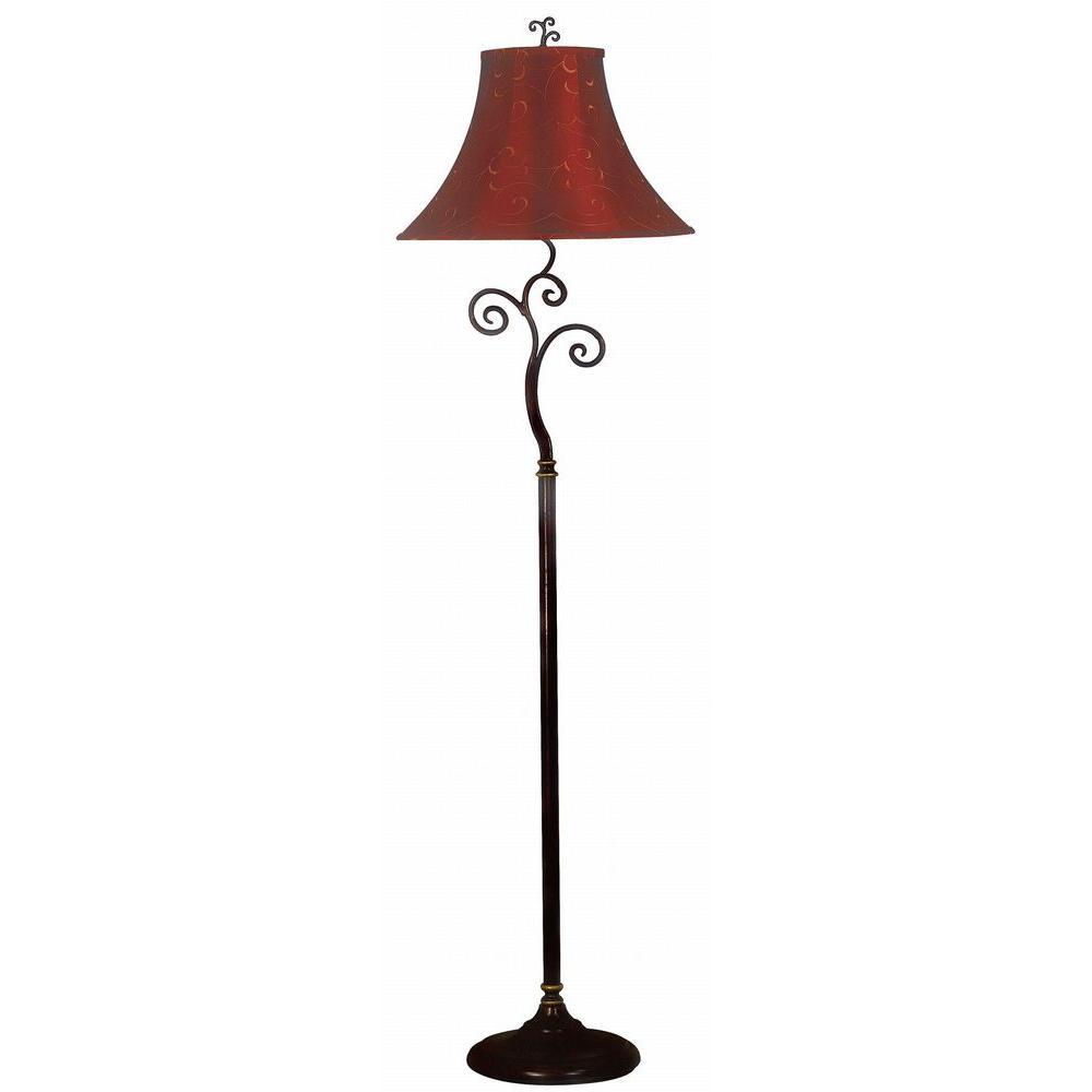 Kenroy Home Richardson 61 in. Bronze Floor Lamp