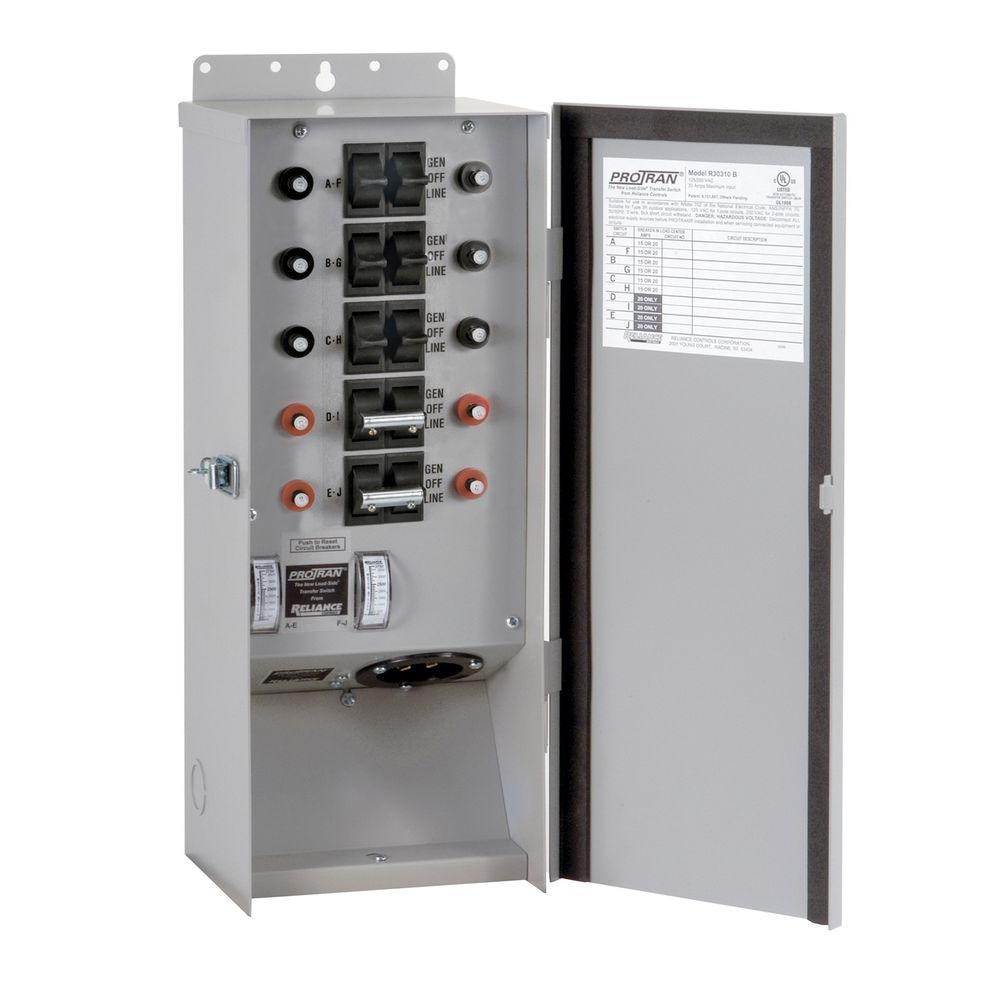 Reliance Controls 10 Circuit Outdoor Transfer Switch