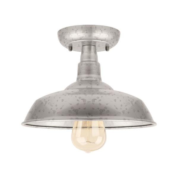 Unbranded 1 Light Galvanized Outdoor Semi Flush Mount Light El0500gv The Home Depot