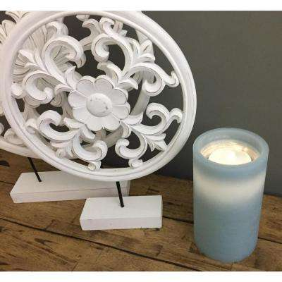 Blue Fountain Candle
