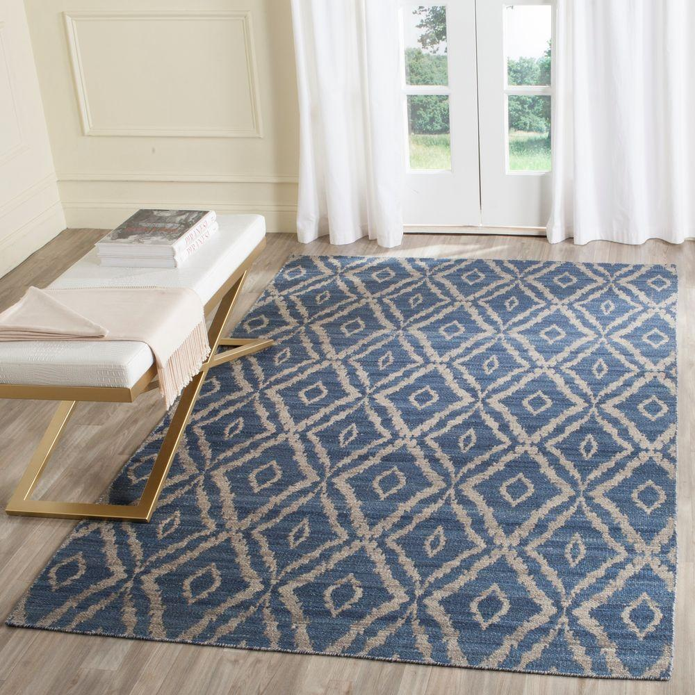 Safavieh Kilim Blue Grey 5 Ft X 8 Area Rug Klm215a The Home Depot