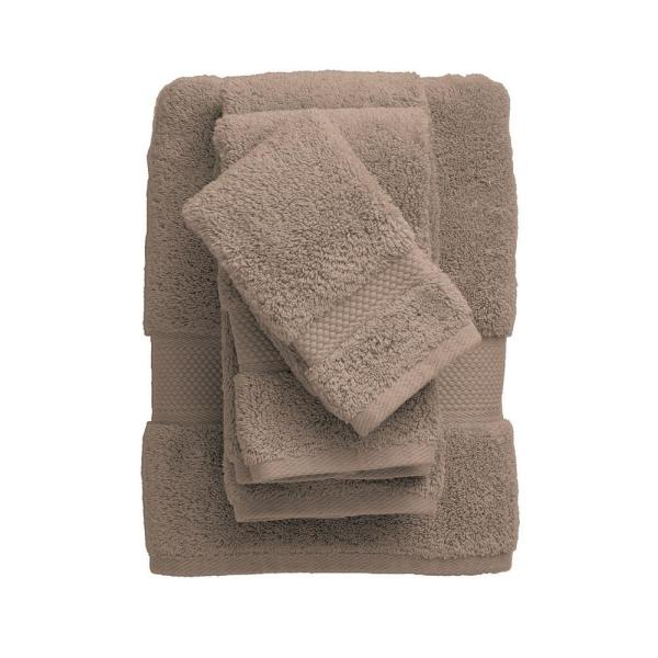 The Company Store Legends Sterling Supima Cotton Fingertip Towel in Pecan
