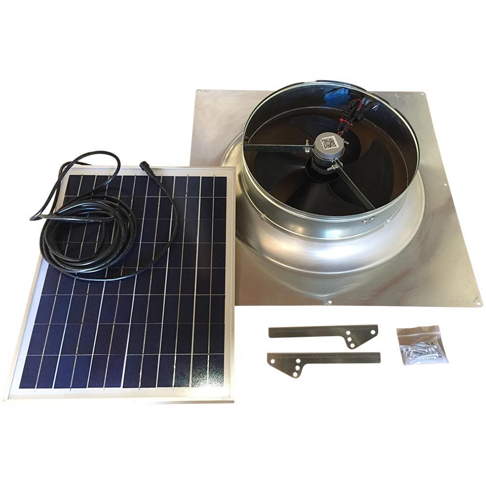 Attic: Remington Solar 20-Watt 1,280 CFM Gable Mount Solar