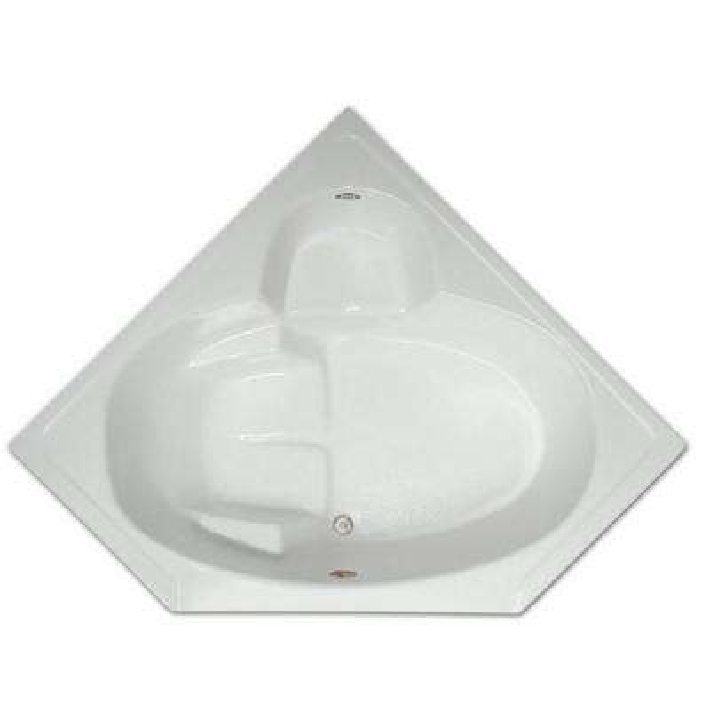 5 ft. Corner Drop-In Non-Whirlpool Bathtub in White
