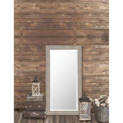 Pinnacle 25.625 in. x 49.625 in. French Antique Framed Bevel Mirror