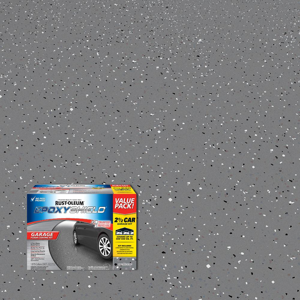 Rust-Oleum EpoxyShield 240 Oz. Dark Gray Gloss 2.5 Car