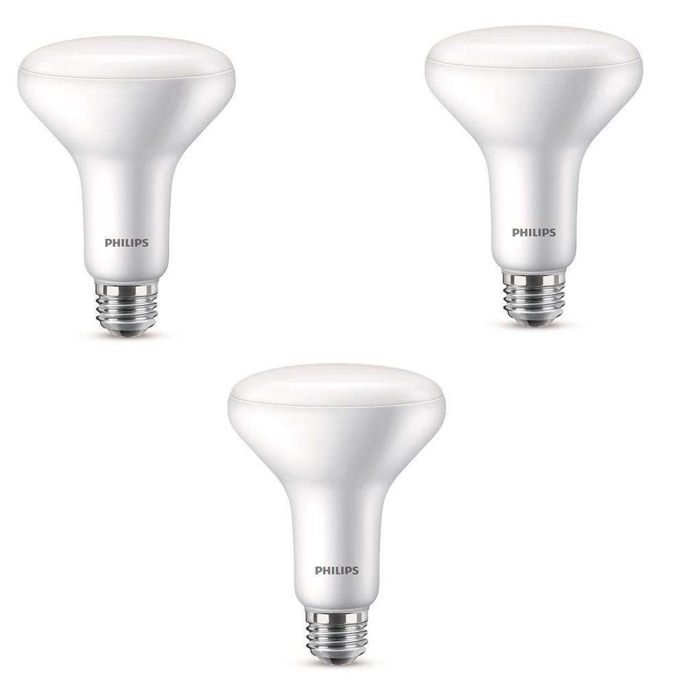 65-Watt Equivalent BR30 Dimmable LED Energy Star Light Bulb, Daylight (3-Pack)