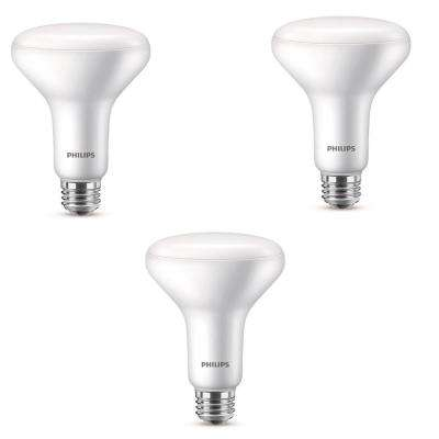 65-Watt Equivalent BR30 Dimmable ENERGY STAR LED Light Bulb Daylight (3-Bulbs)