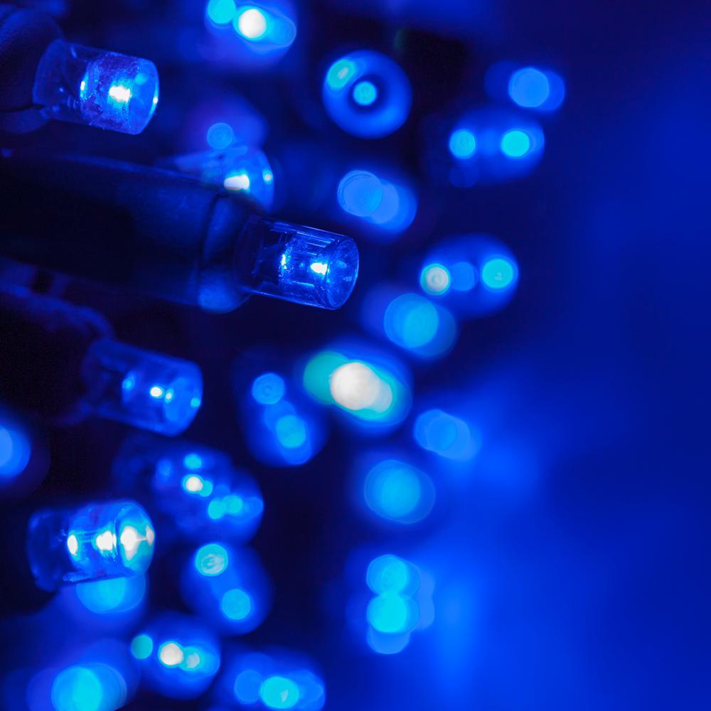 24 ft. 70-Light Blue 5 mm LED Mini Light Set