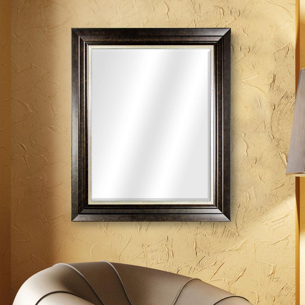 Camden Rectangular Brown Vanity Mirror