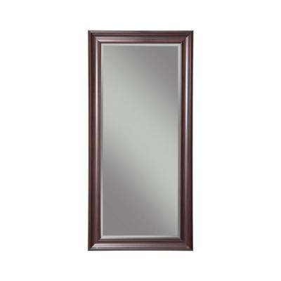 Espresso Full Length Leaner Floor Mirror