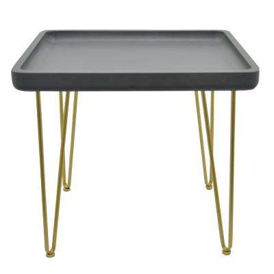 18.5 in. Black Side Table