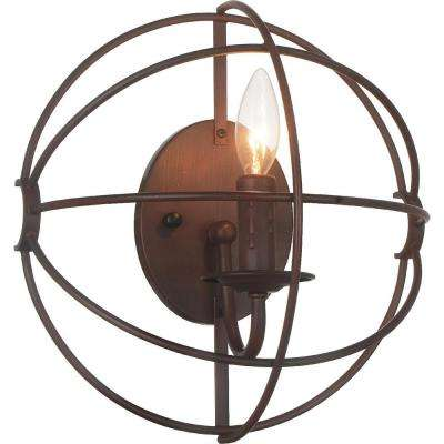 Arza 1-Light Brown Sconce