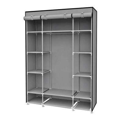 67 in. H Gray Storage Closet with Shelving