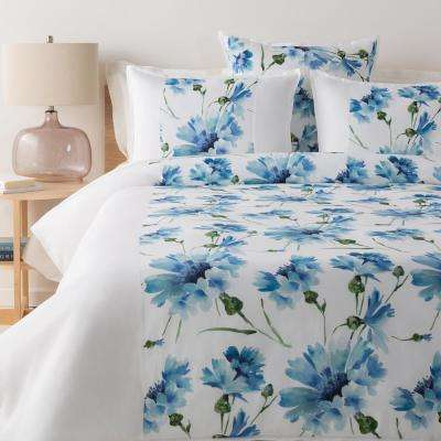 Eerika Blue Full/Queen Duvet Set