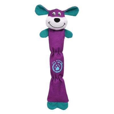 Purple Extra Long Dura-Chew Reinforce Stitched Durable Water Resistant Plush Chew Tugging Dog Toy