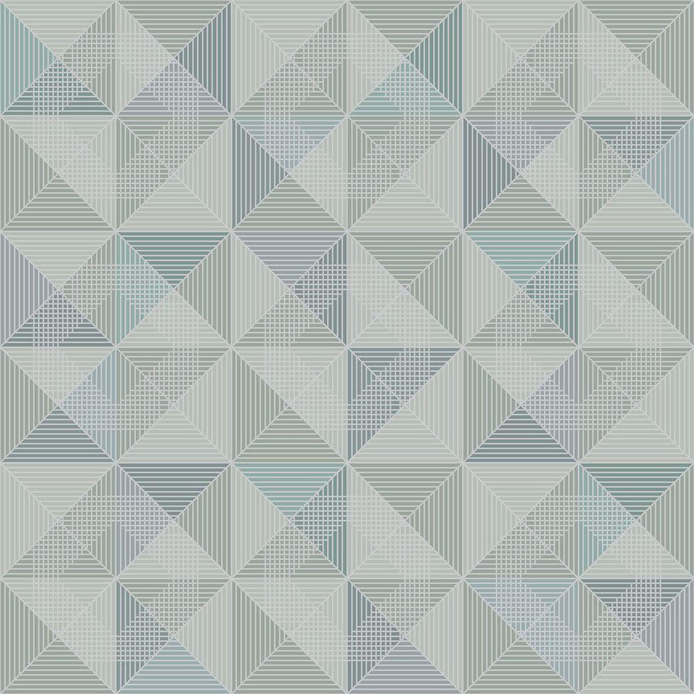 Brewster Blue Geometric Wallpaper WV8104