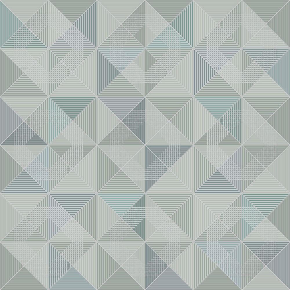 Dabria Blue Geometric Wallpaper Sample