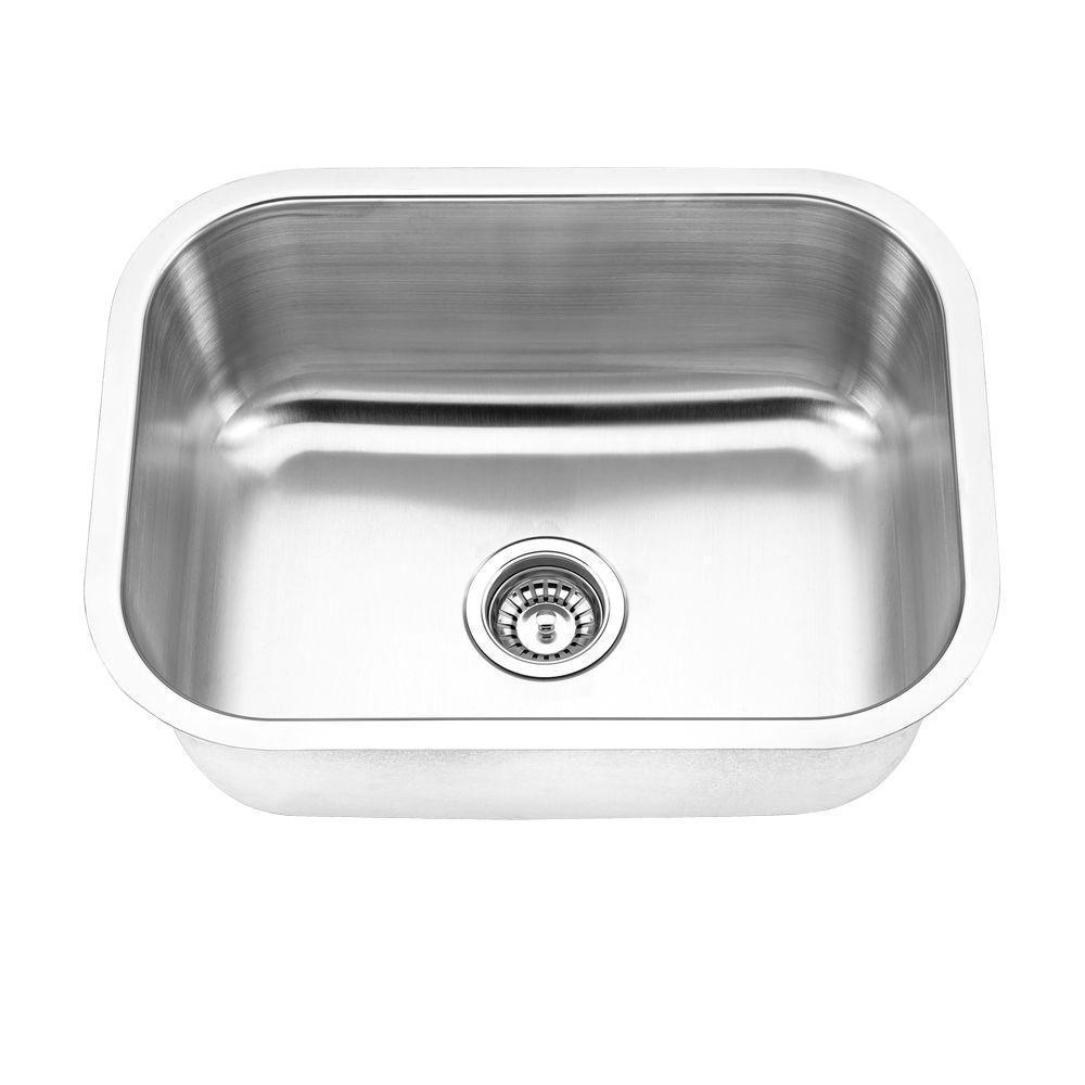 Undermount Stainless Steel 23 in. Single Bowl Kitchen Sink in Satin