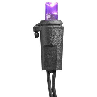 20 LED Purple Flashing Battery Operated Lights with Timer