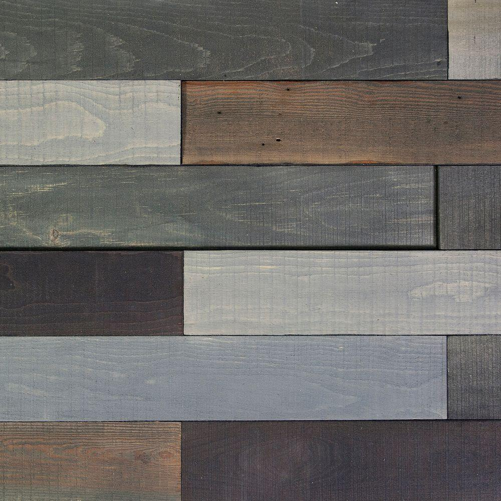 wood wall planks nuvelle deco planks forest pewter 1 2 in thick x 4 in 10702