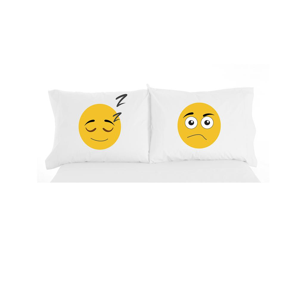 Emoji Novelty Print Pillowcase Pair