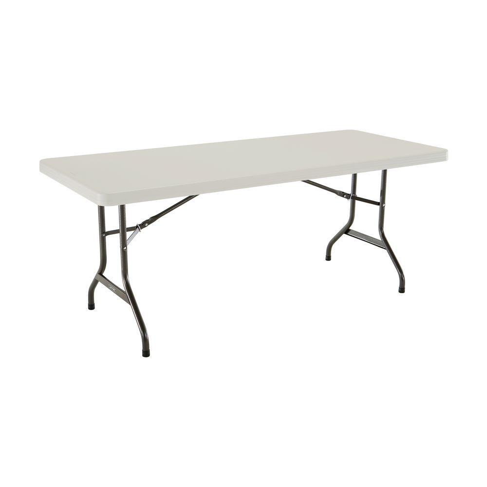 Lifetime 72 in. Almond Plastic Portable Folding Banquet Table