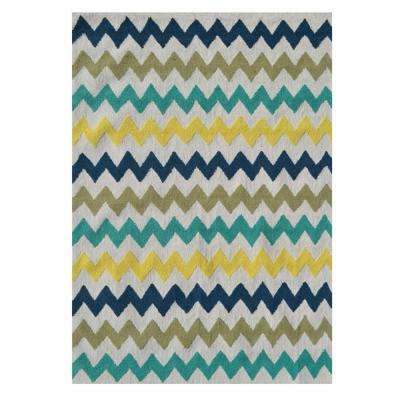 Chevron Multi 7 ft. x 10 ft. Indoor Area Rug