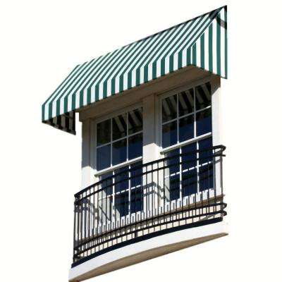 4 ft. New Yorker Window/Entry Awning (24 in. H x 42 in. D) in Forest / White Stripe