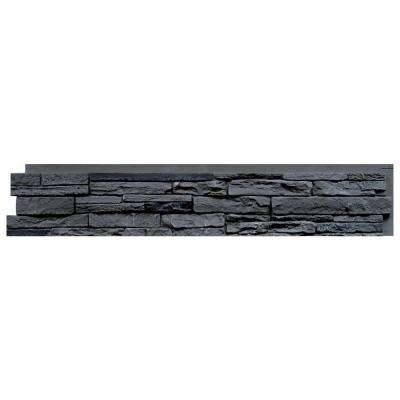 Slatestone Rocky Mountain Graphite 8.25 in. x 43 in. Faux Stone Siding Panel (8-Pack)