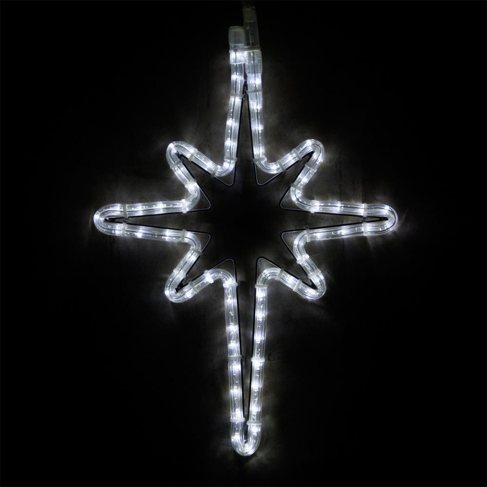 18 in. 65-Light LED Cool White Hanging Bethlehem Star