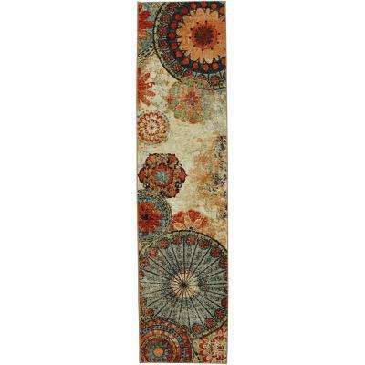 Caravan Medallion Multi 2 ft. x 8 ft. Rug Runner