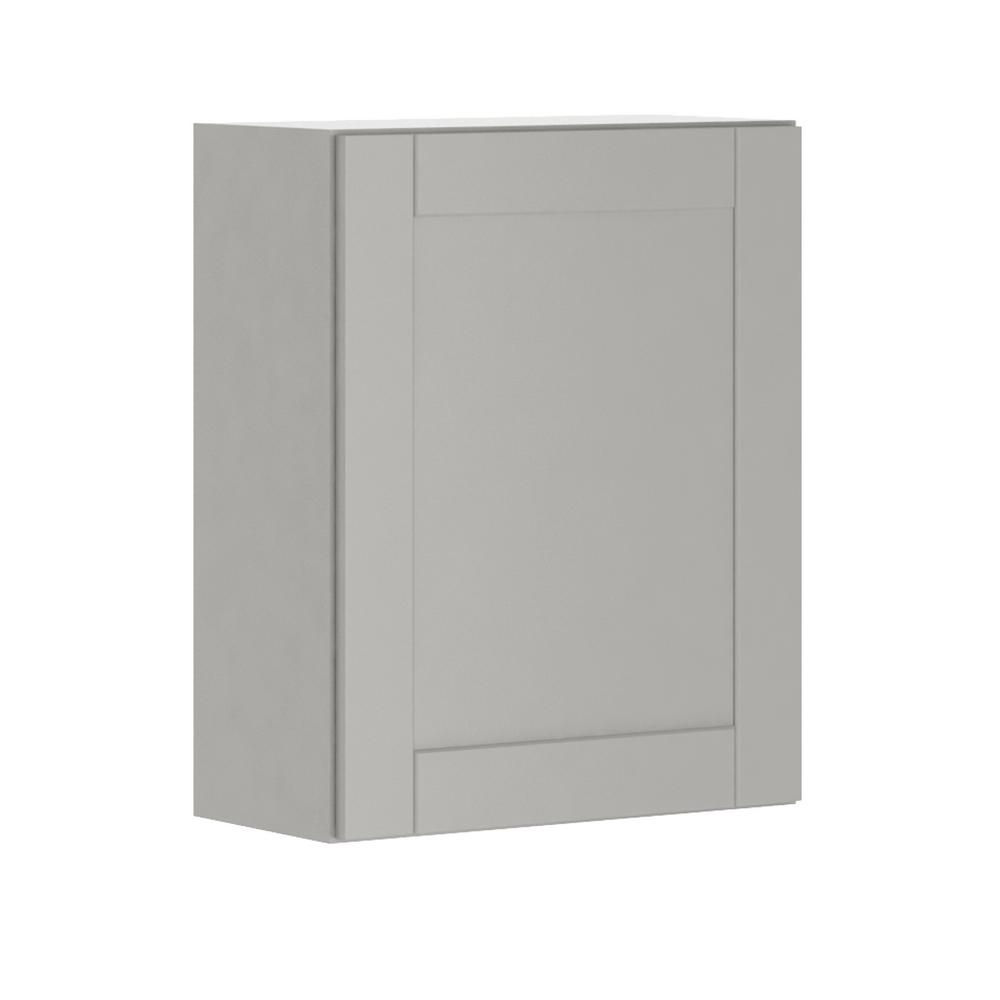 Princeton Shaker Assembled 24x30x12 in. Wall Cabinet in Warm Gray