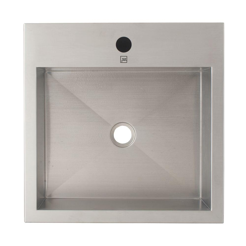 Decolav Crofton Series Modern Vessel Sink In Brushed Stainless Steel