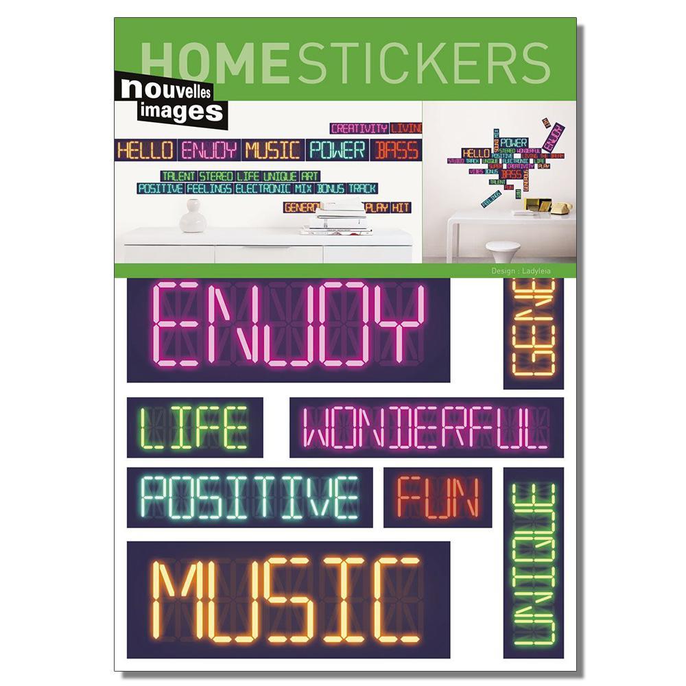 Multicolor Digital Home Sticker