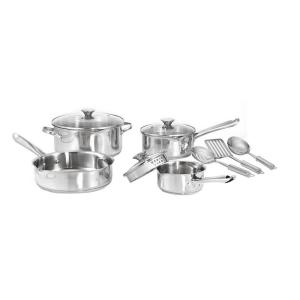 WearEver Cook and Strain 10-Piece Stainless Steel Cookware Set by WearEver