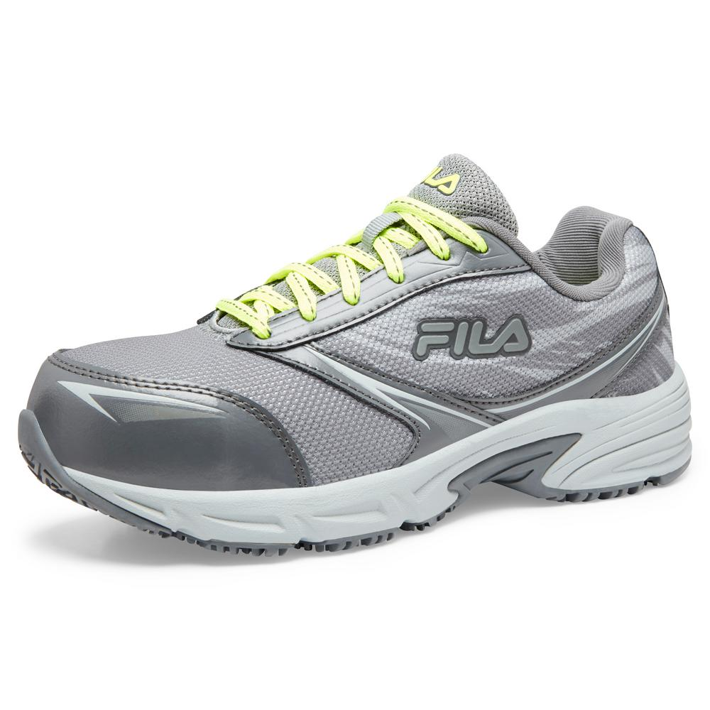 Fila Women's Memory Meiera 2 Slip Resistant Athletic Shoes Composite Toe MonumentCastlerock Size 6.5(M)