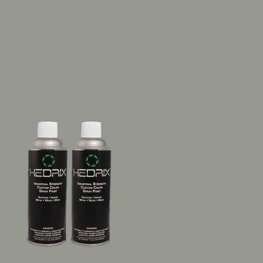 Hedrix 11 oz. Match of QE-53 Raindance Low Lustre Custom Spray Paint (2-Pack)